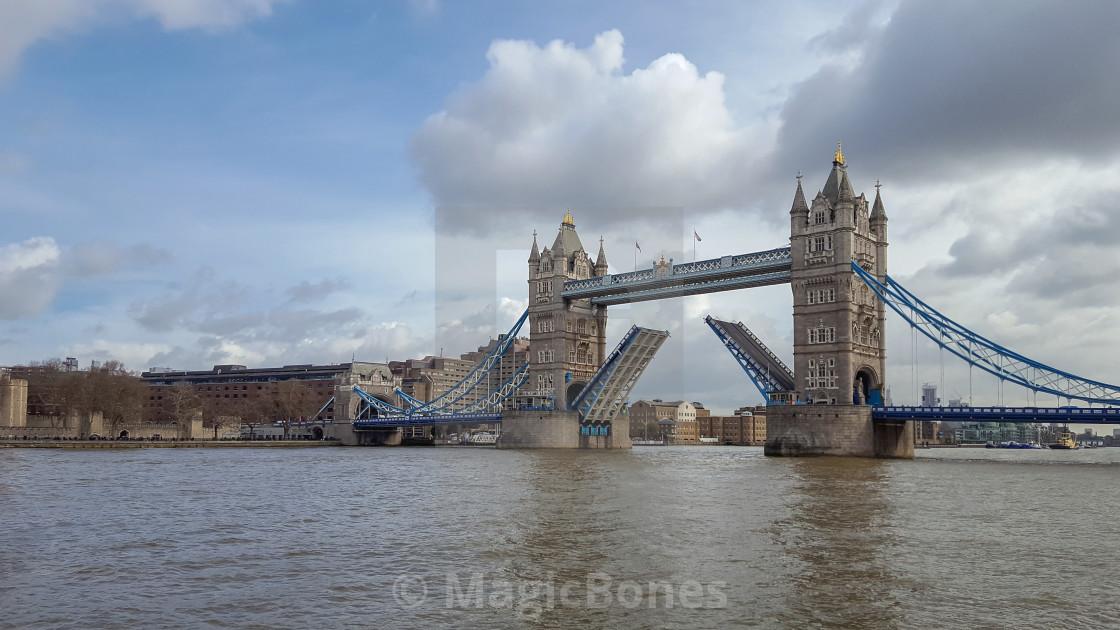 """Tower Bridge, River Thames"" stock image"