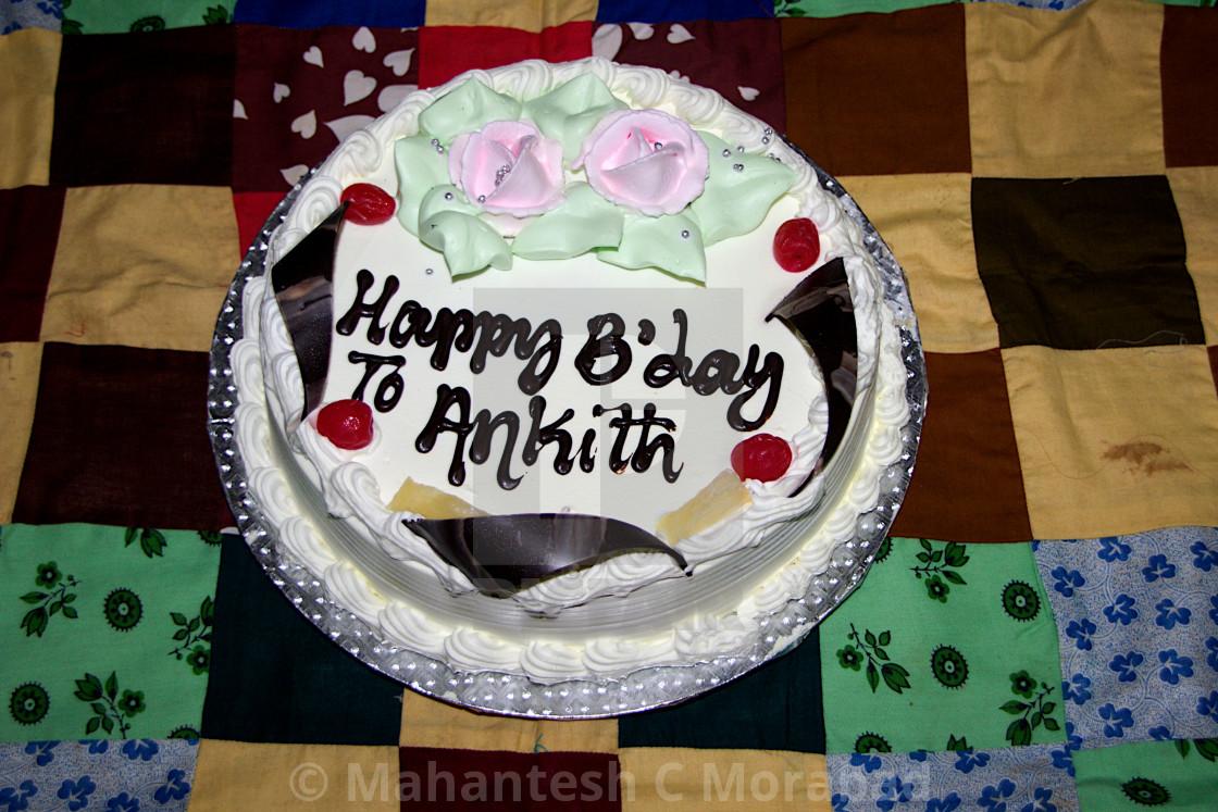 Delicious Birthday Cake Stock Image