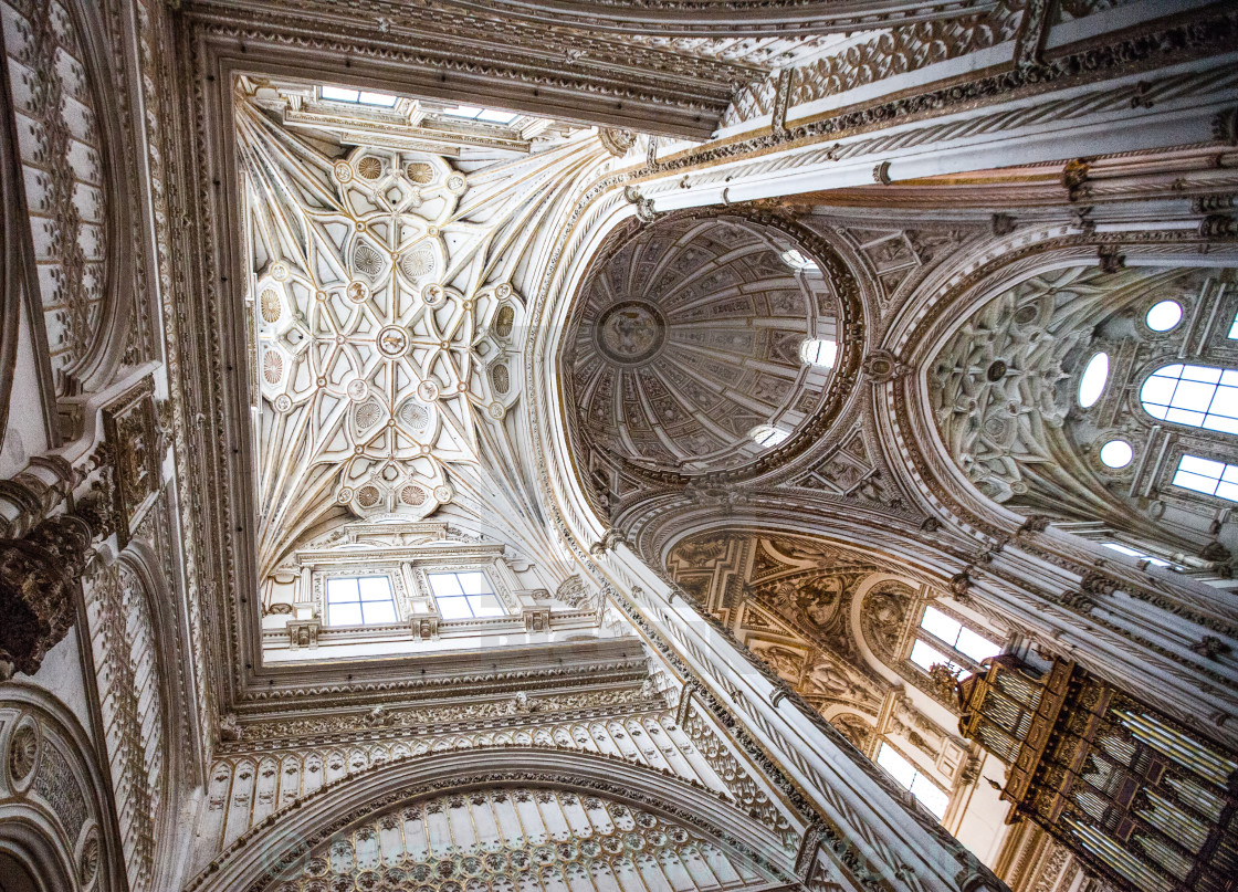 """Great Mosque-Cathedral of Cordoba, Spain."" stock image"