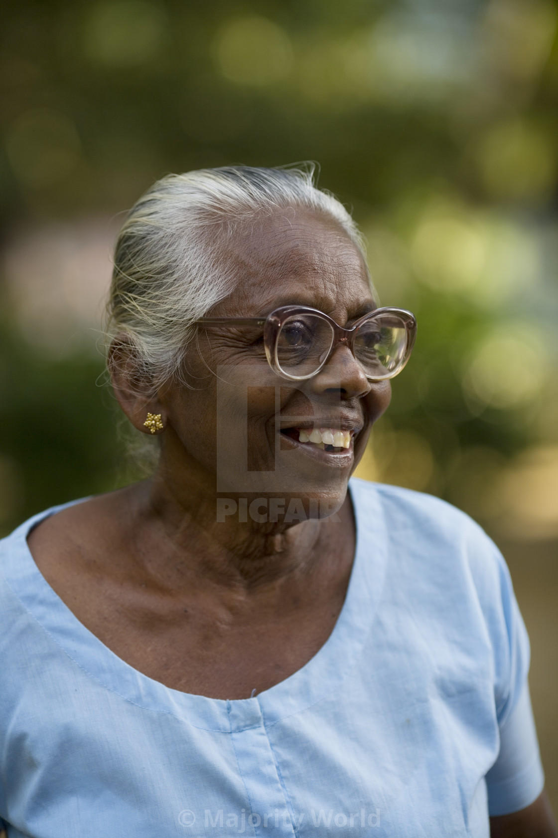 """B Ramnayaka, 80, enjoys going on pilgrimages and is a loan recipient from..."" stock image"