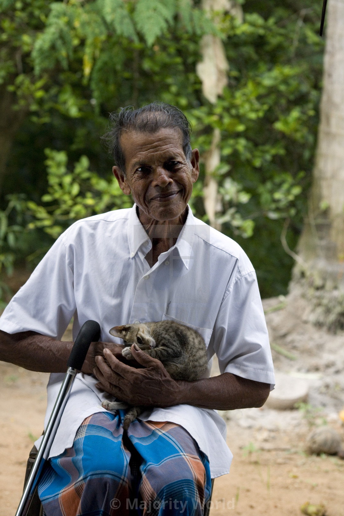 """""""KP Sanneris, 76, received a loan from Help the Aged. November 21, 2007. Sri..."""" stock image"""