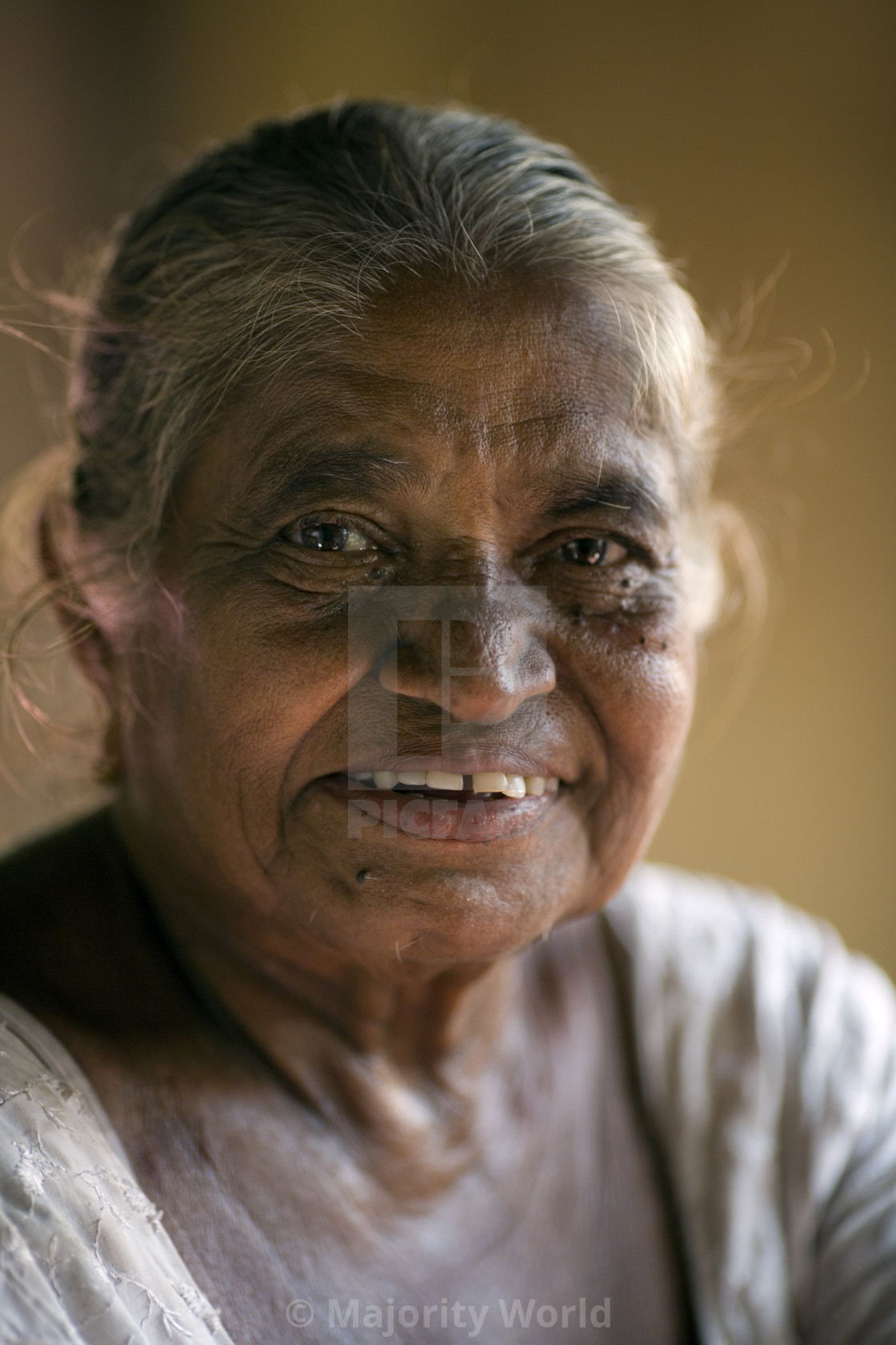 """""""Geeganage Hemawathi, aged 73. She was with her grandson Dilshan, who is 2 and..."""" stock image"""