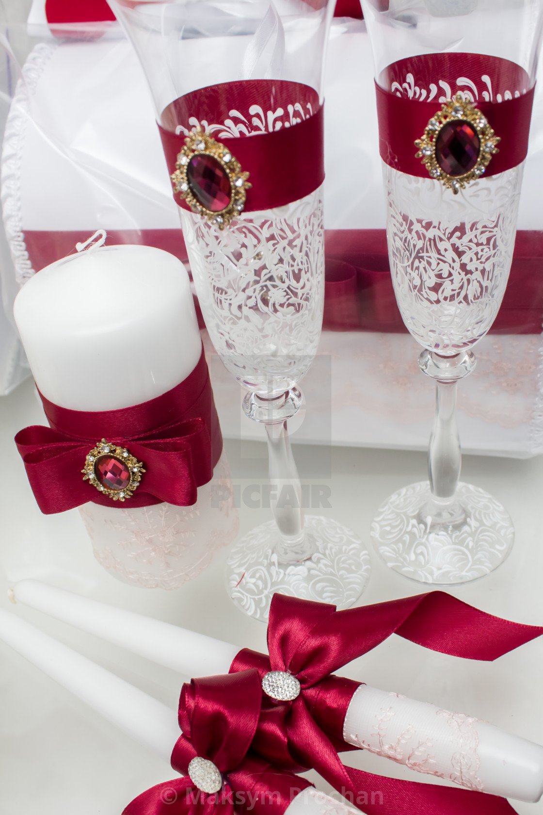 """""""The elegant dinner table"""" stock image"""