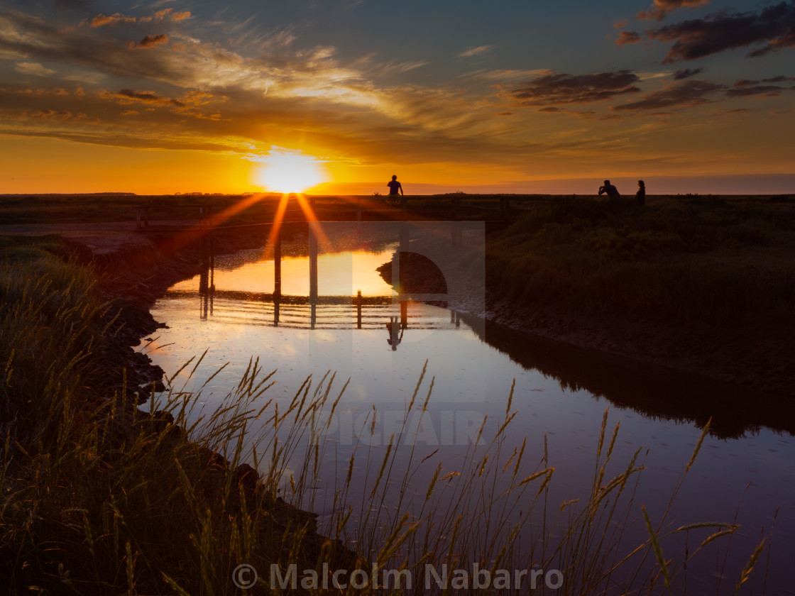 """Sunset over the Salt Marsh"" stock image"