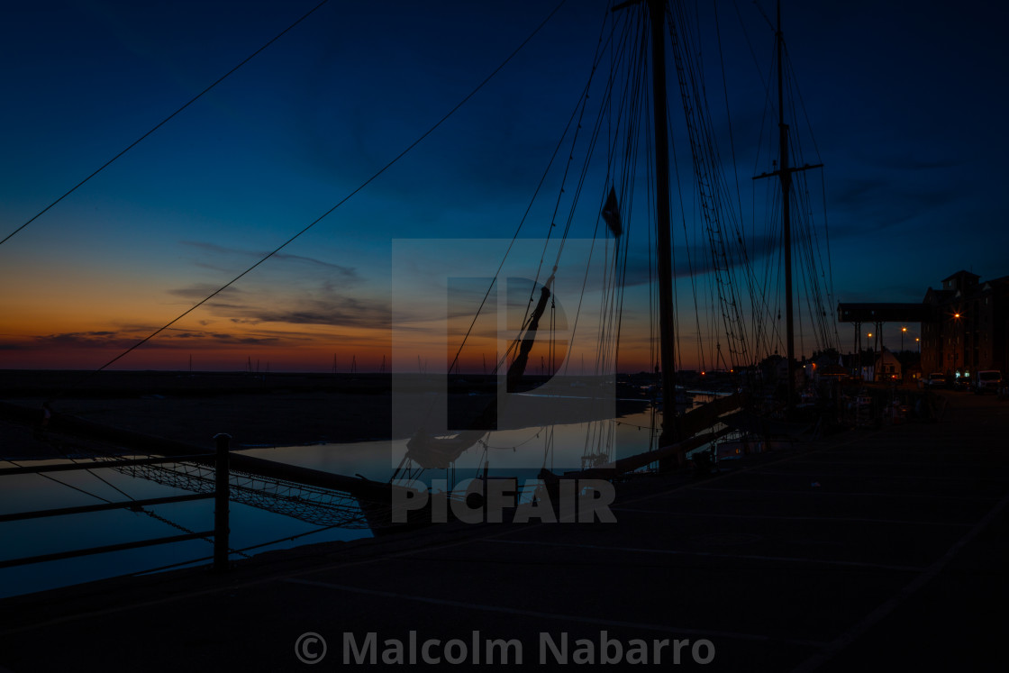 """Dawn over Wells next the Sea, Norfolk"" stock image"