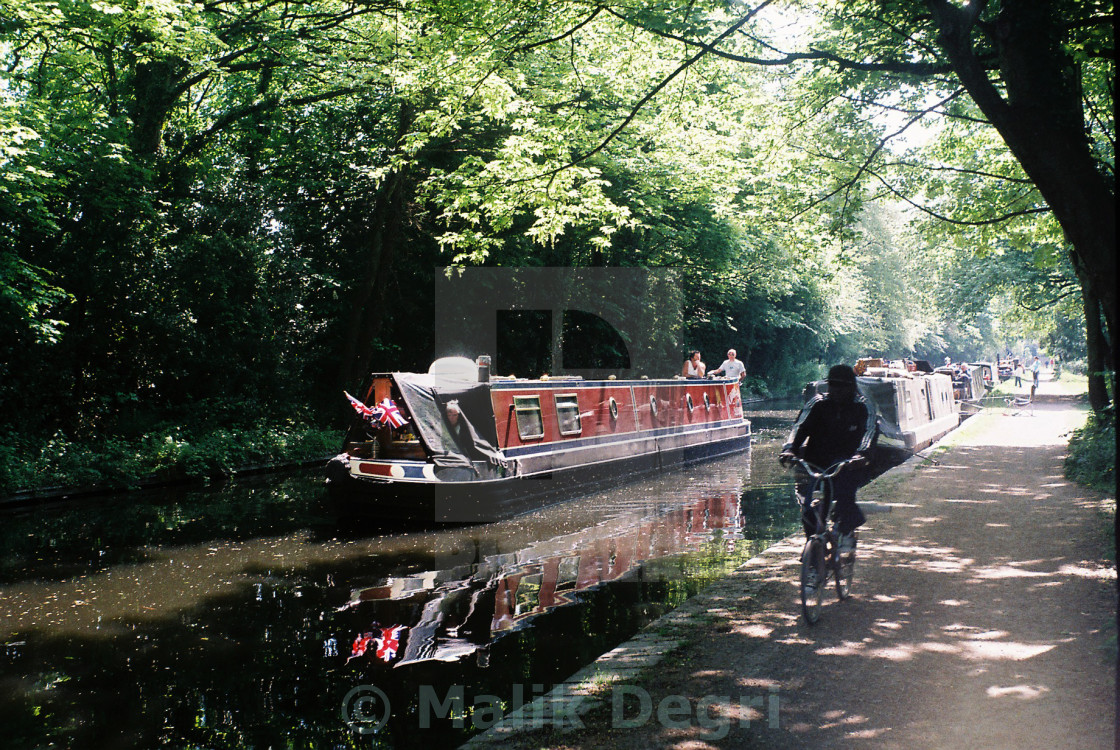 """""""Canal boats"""" stock image"""
