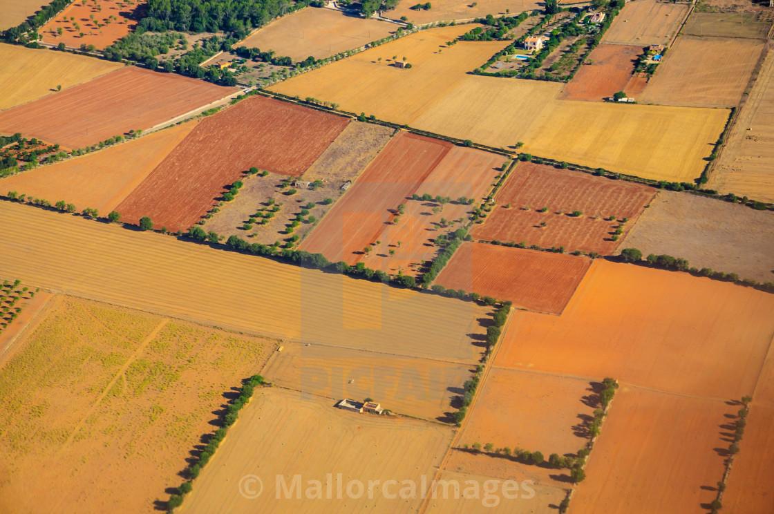 """""""Mallorca landscape pattern"""" stock image"""