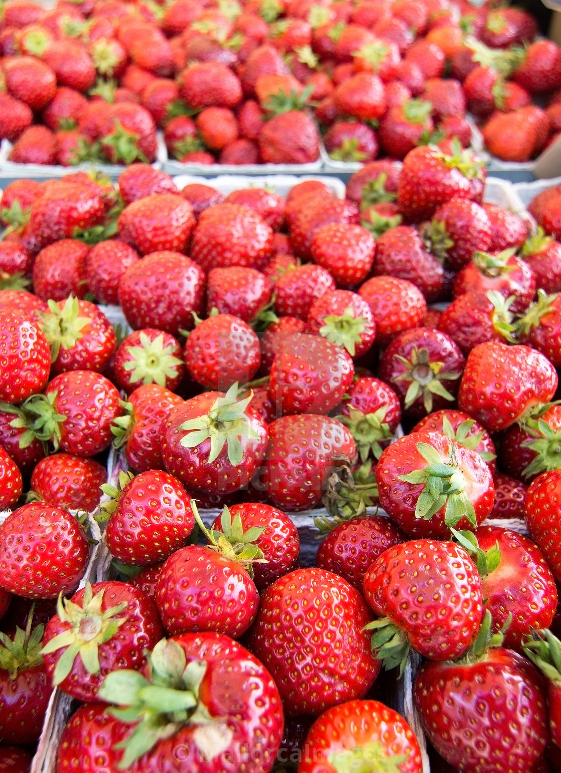 """""""Strawberries for sale"""" stock image"""
