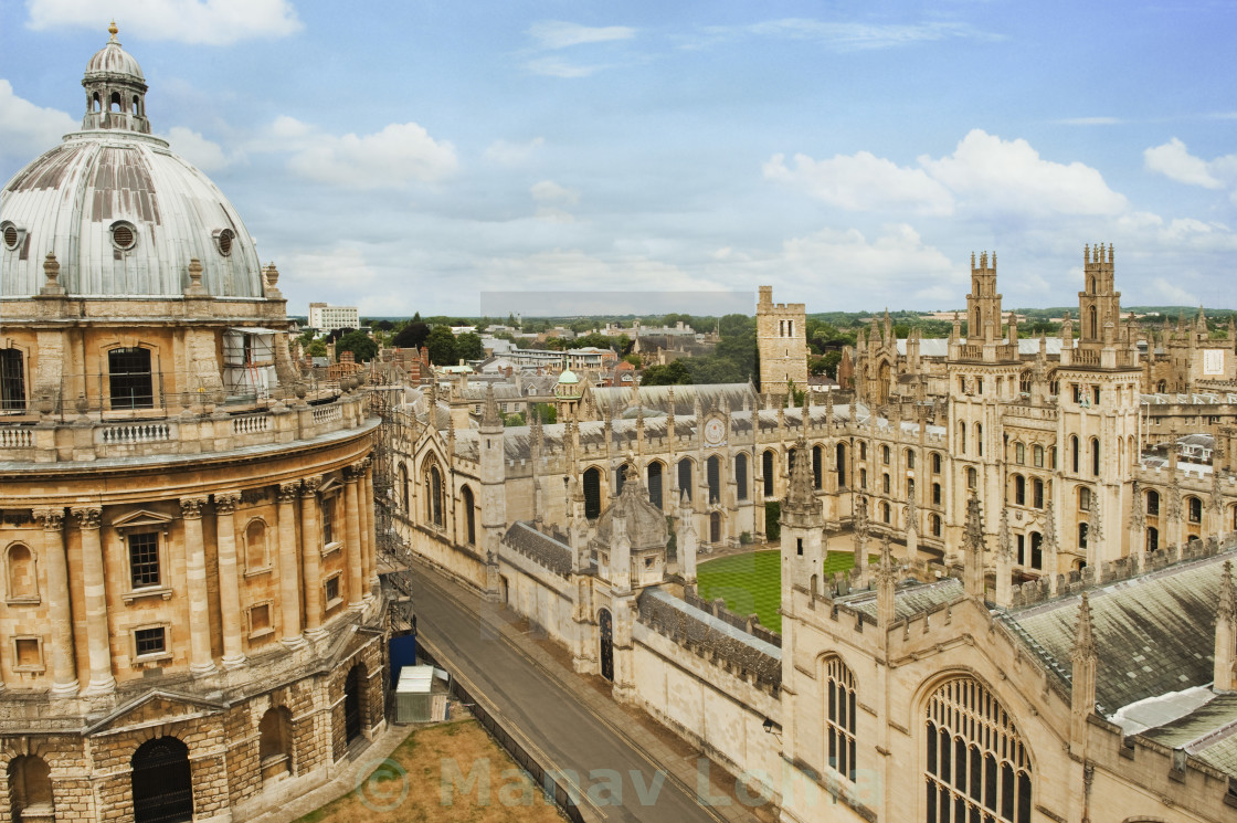 """University buildings in a city, Radcliffe Camera, Oxford University, Oxford,..."" stock image"