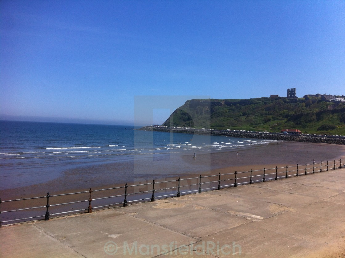 """Scarborough in the Sun"" stock image"