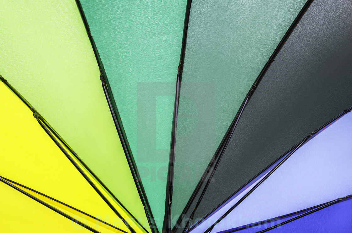 graphic about Umbrella Pattern Printable Free identify Multi rainbow umbrella routine - License, down load or print