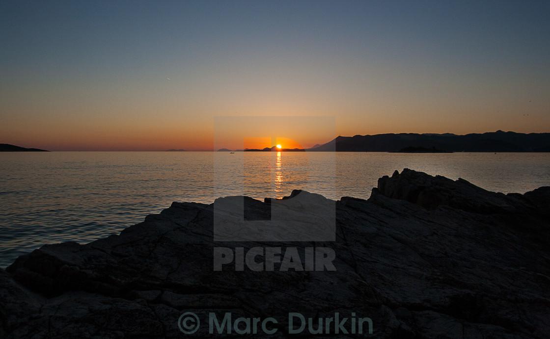 """Cavtat Sunset"" stock image"
