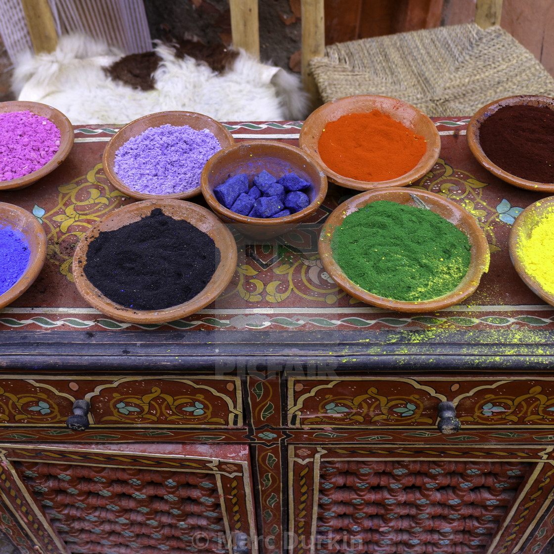"""""""Colourful dyes"""" stock image"""