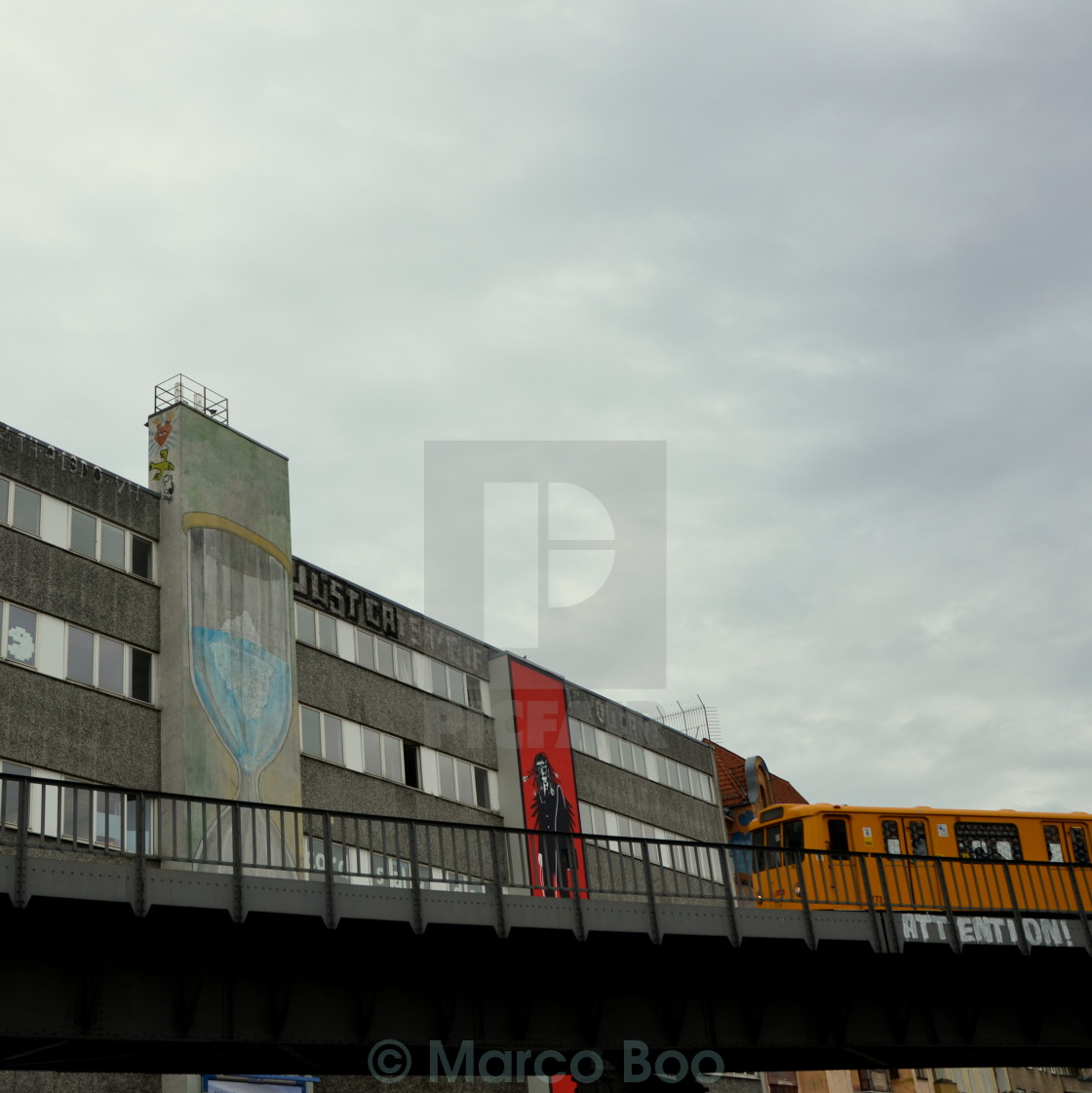 """U-bahn & Graffiti"" stock image"