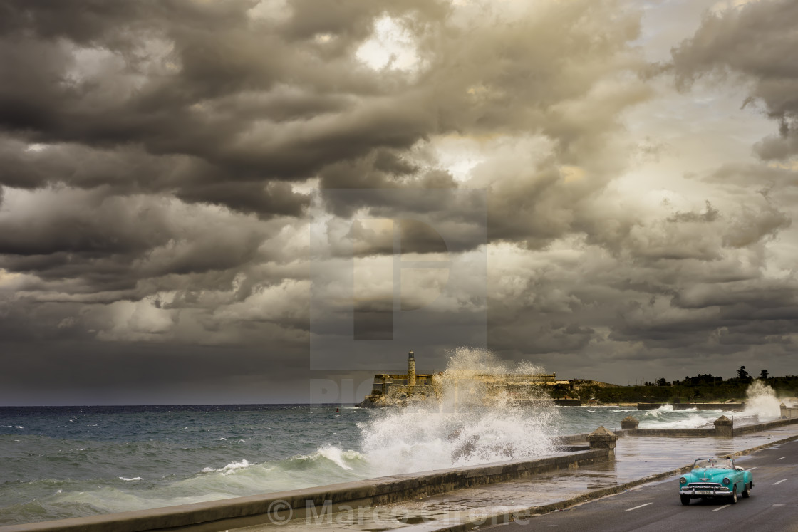"""""""STORM OVER MALECON"""" stock image"""