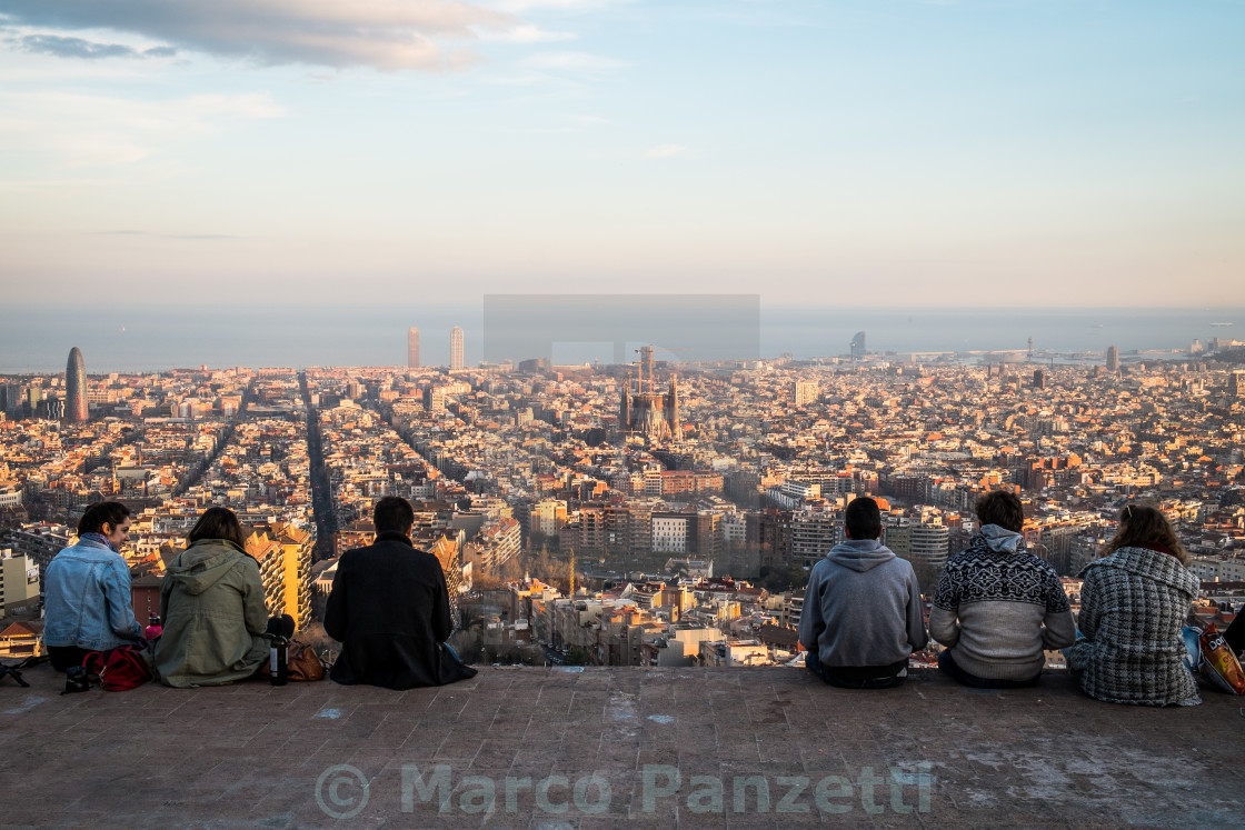 """Barcelona from above"" stock image"