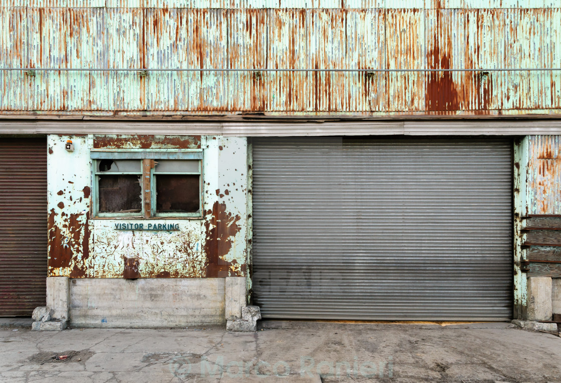 """Rusty Garage"" stock image"