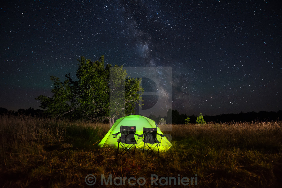 """Milky Way for Two"" stock image"