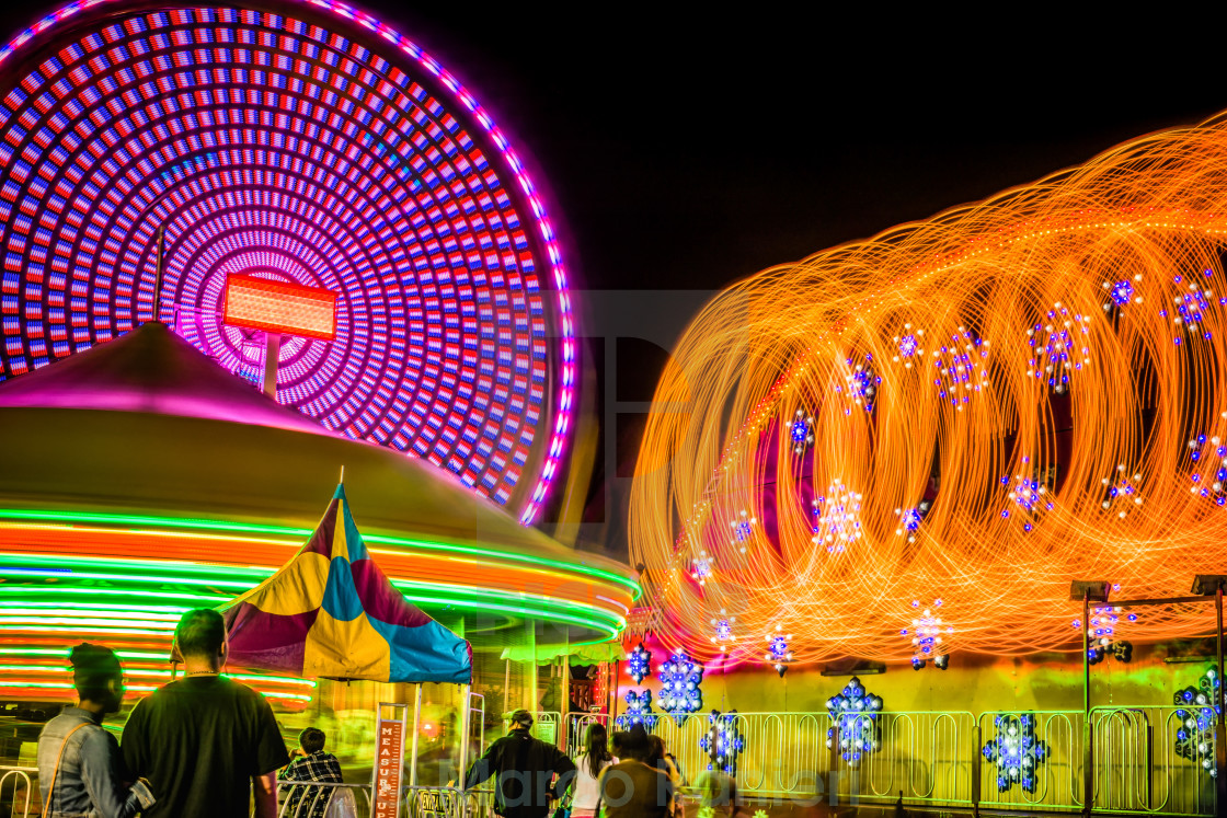 """Carnival Lights"" stock image"