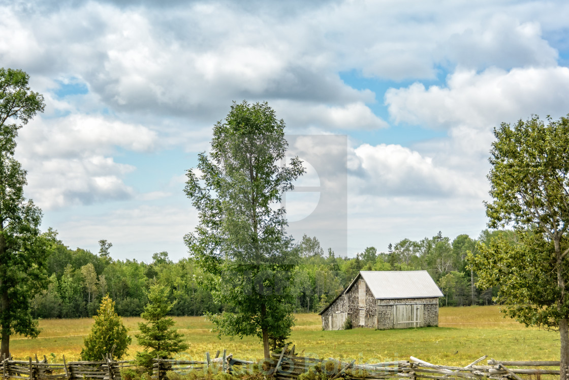 """Weathered Country Shed"" stock image"