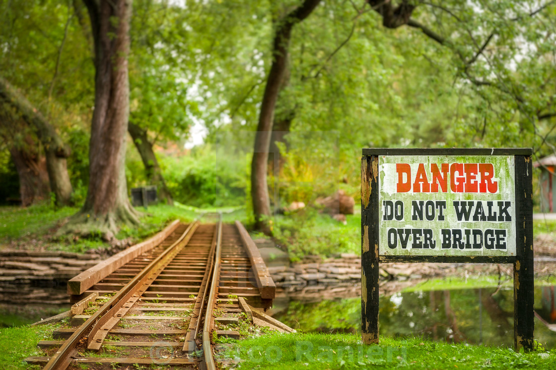 """Danger Bridge"" stock image"