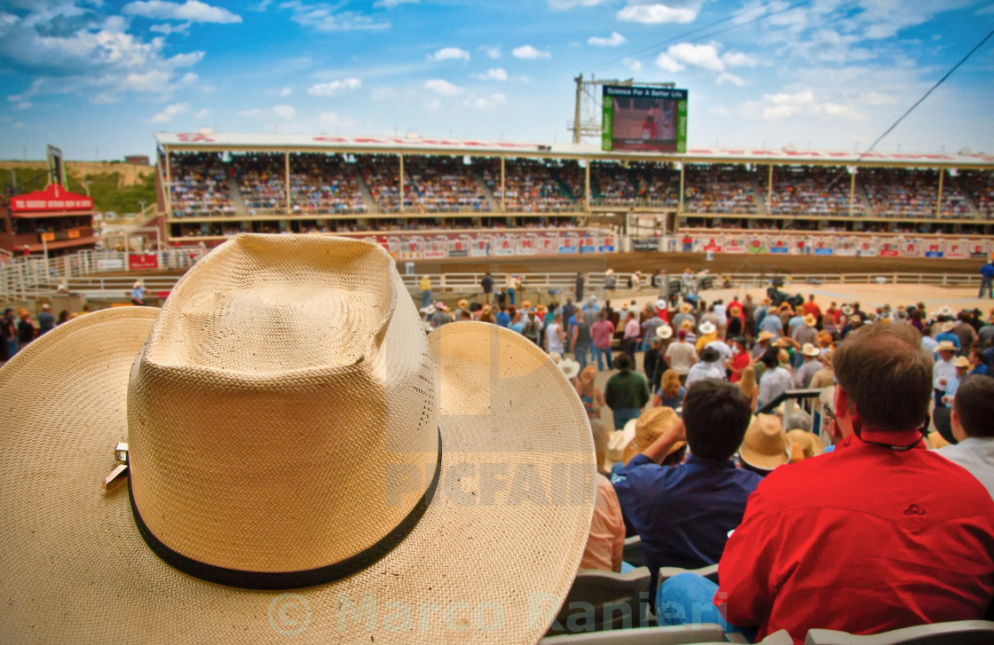 """Cowboy Hat in a Crowd"" stock image"