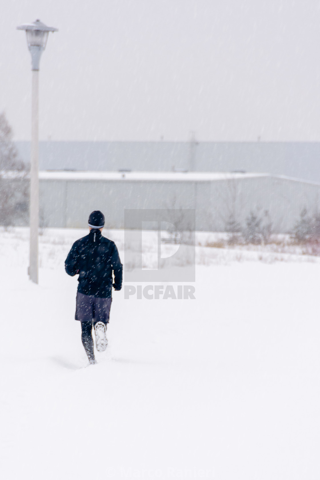 """Snow Runner"" stock image"
