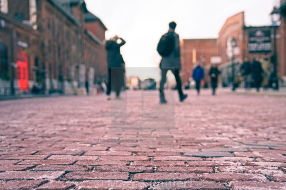 """Old Town Brick Road"" stock image"