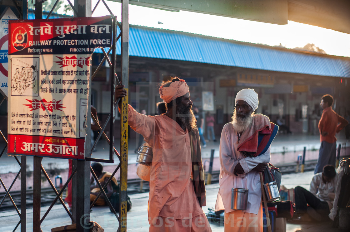 """India train station scene"" stock image"