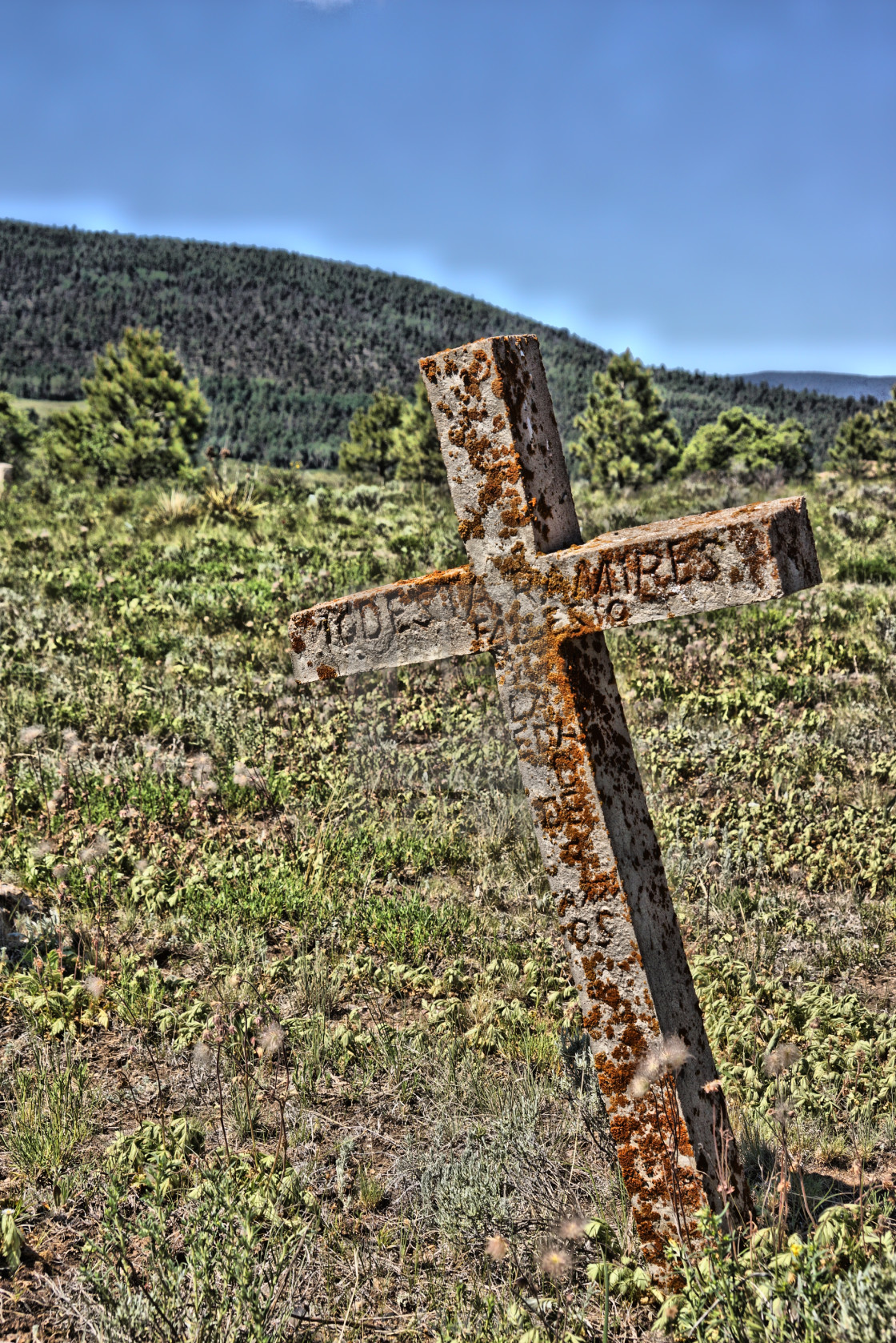 """Elizabeth Town NM Cemetery 2"" stock image"