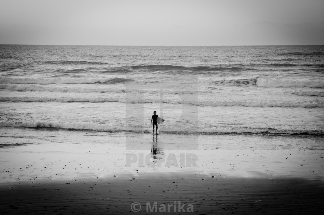 """Lone Surfer"" stock image"