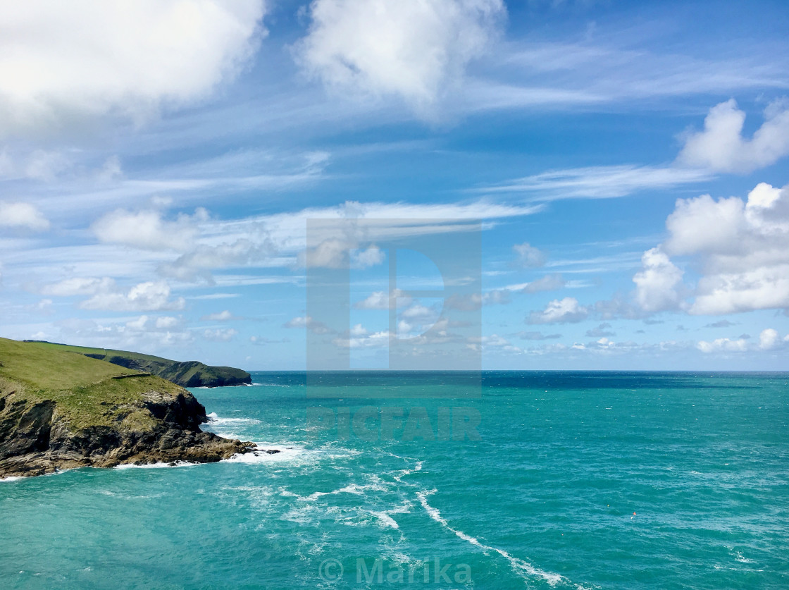 """the bluest sea you ever did see"" stock image"