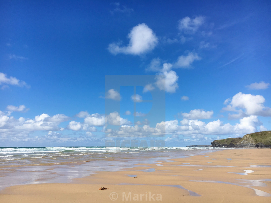 """Watergate Bay, Cornwall"" stock image"