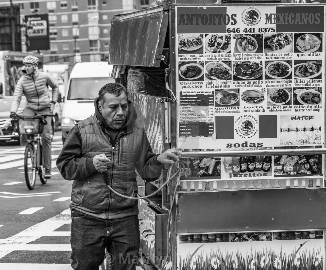 """New York vendor"" stock image"