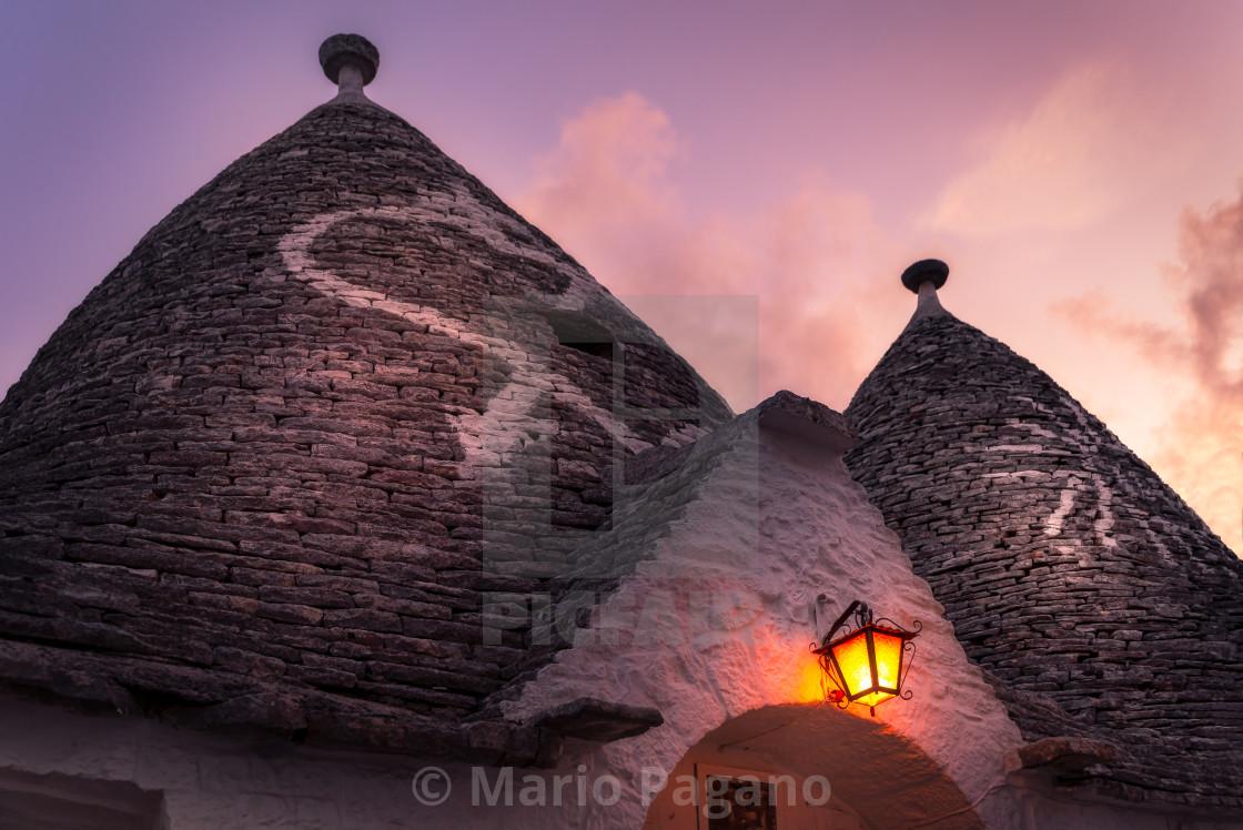 """Sunset - Alberobello"" stock image"