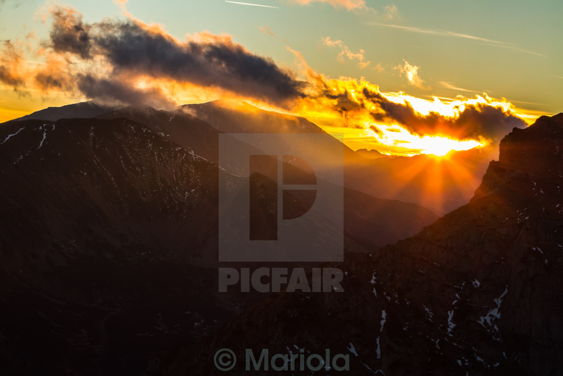 """magic sunset"" stock image"