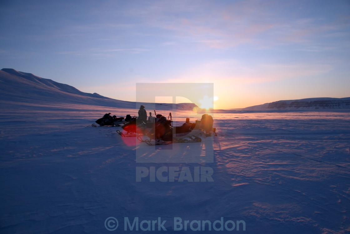 """Svalbard Sunset"" stock image"