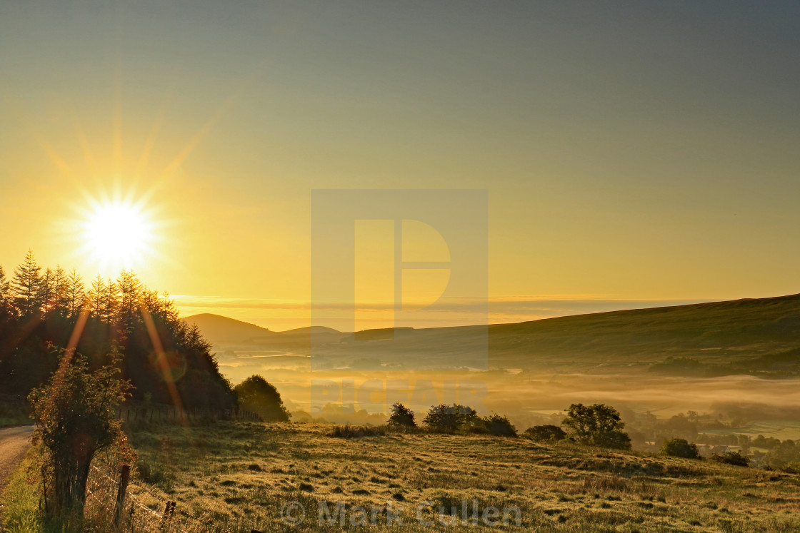 """Early morning sun"" stock image"