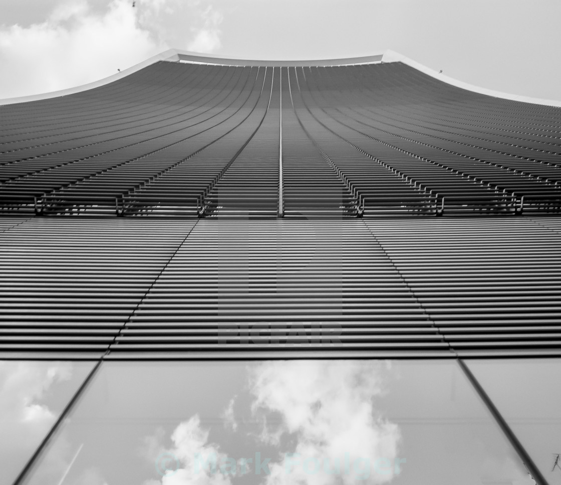 """building lines and clouds"" stock image"