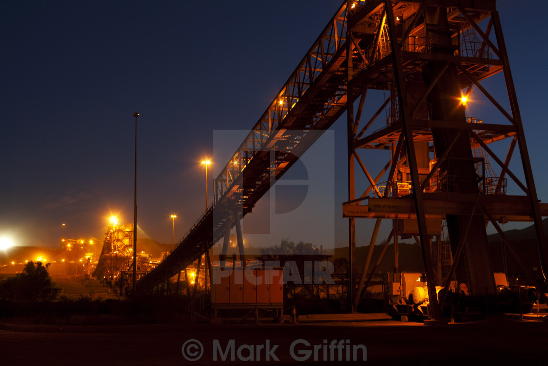 """Night Shot of Conveyor"" stock image"