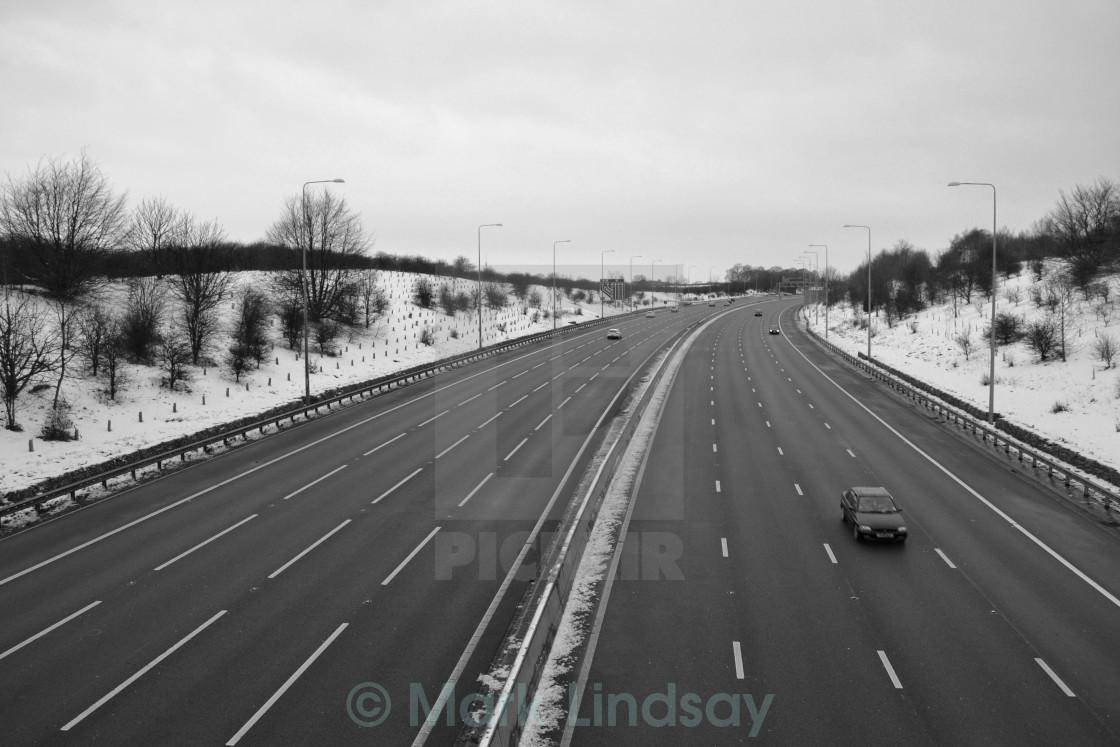 m1 motorway nottinghamshire looking north - License