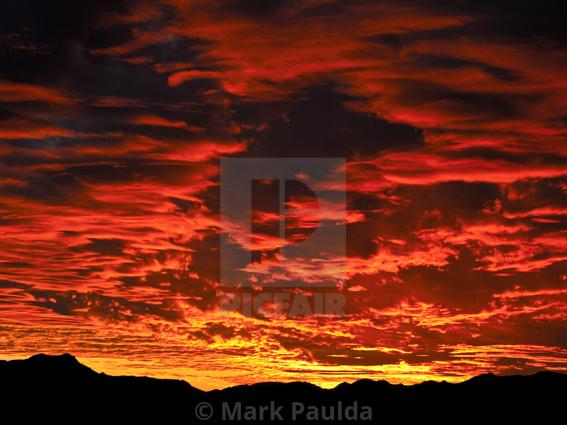 """Red Sunset"" stock image"