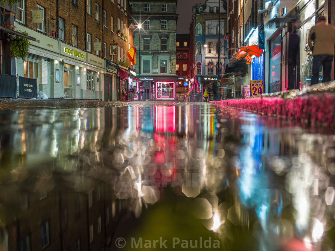 """""""Old Compton Street Reflection"""" stock image"""