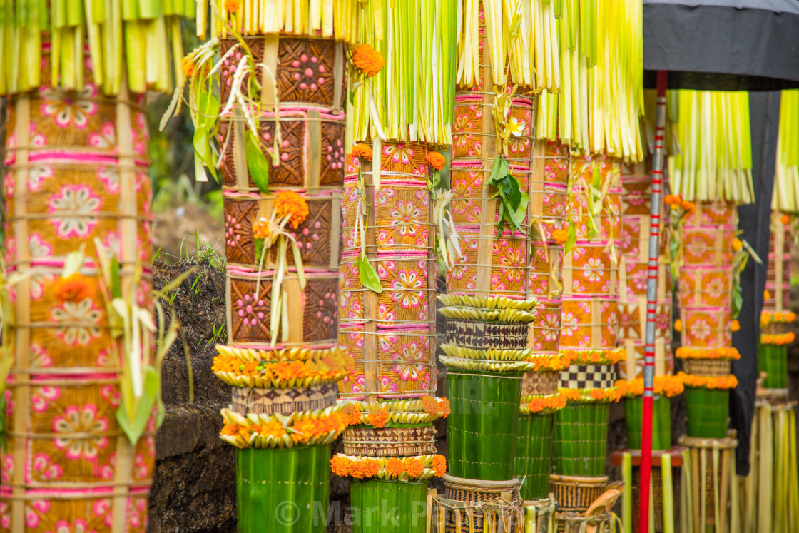 """Traditional Balinese Offerings"" stock image"