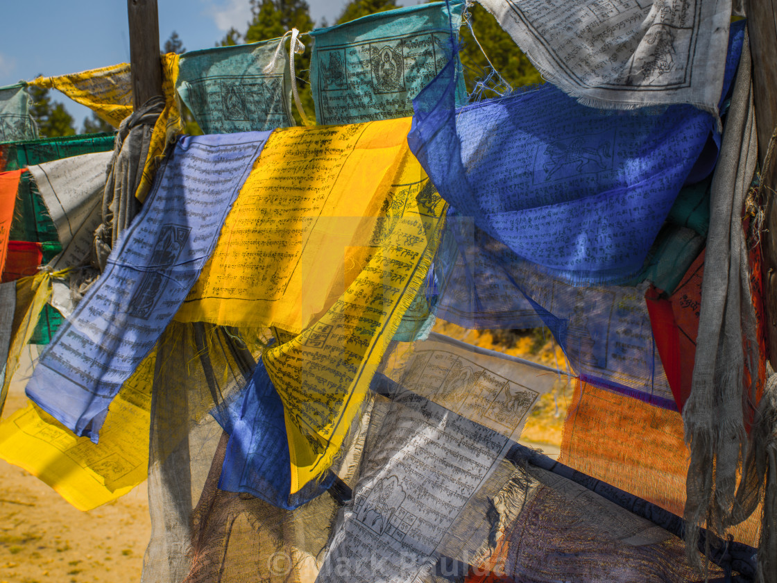 """Colorful Prayer Flags"" stock image"