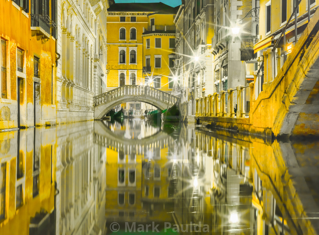 """Venice Canal Reflection"" stock image"