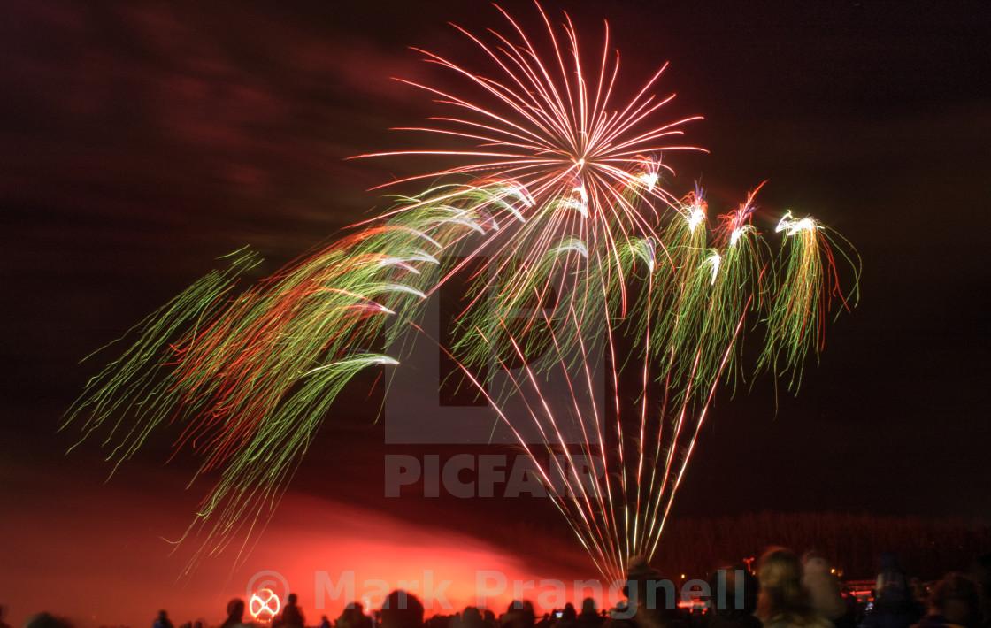 """Fireworks Newbury Racecourse"" stock image"