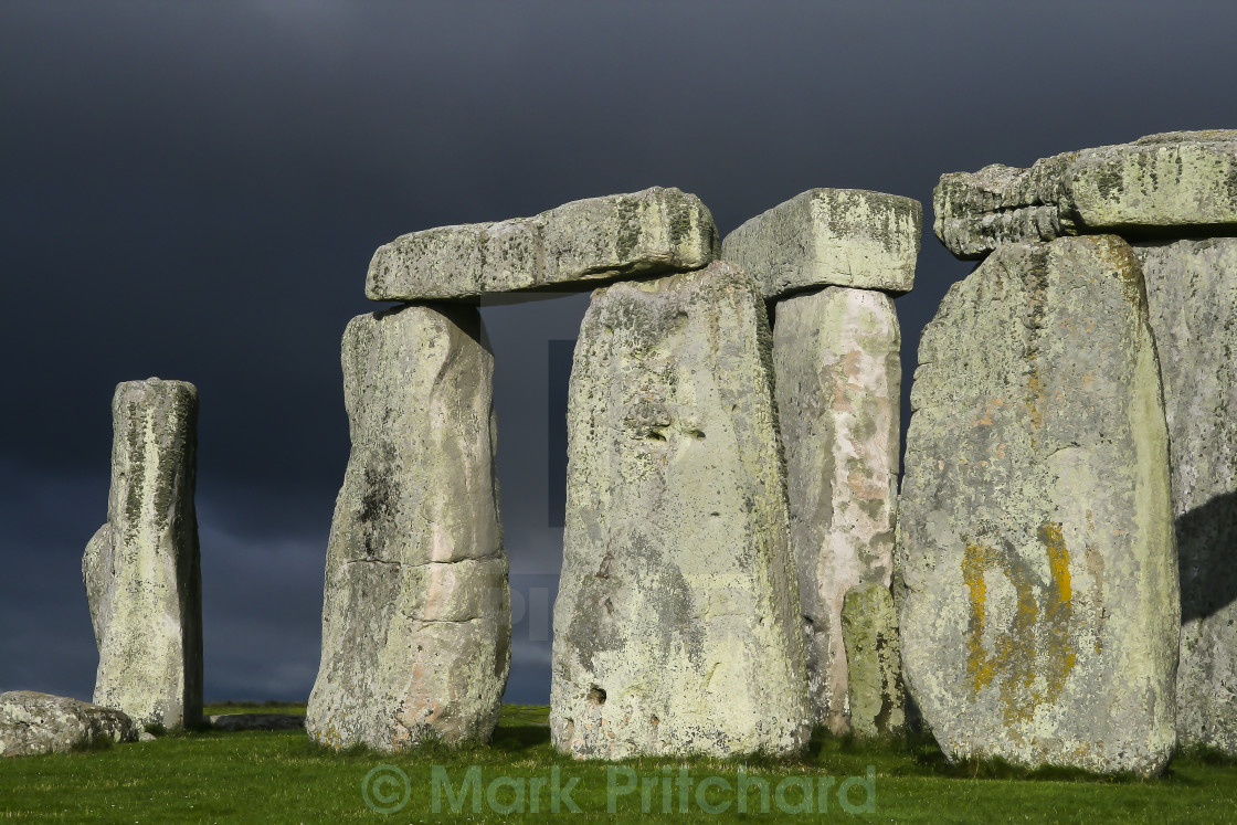 """Storm Clouds over Stonehenge"" stock image"