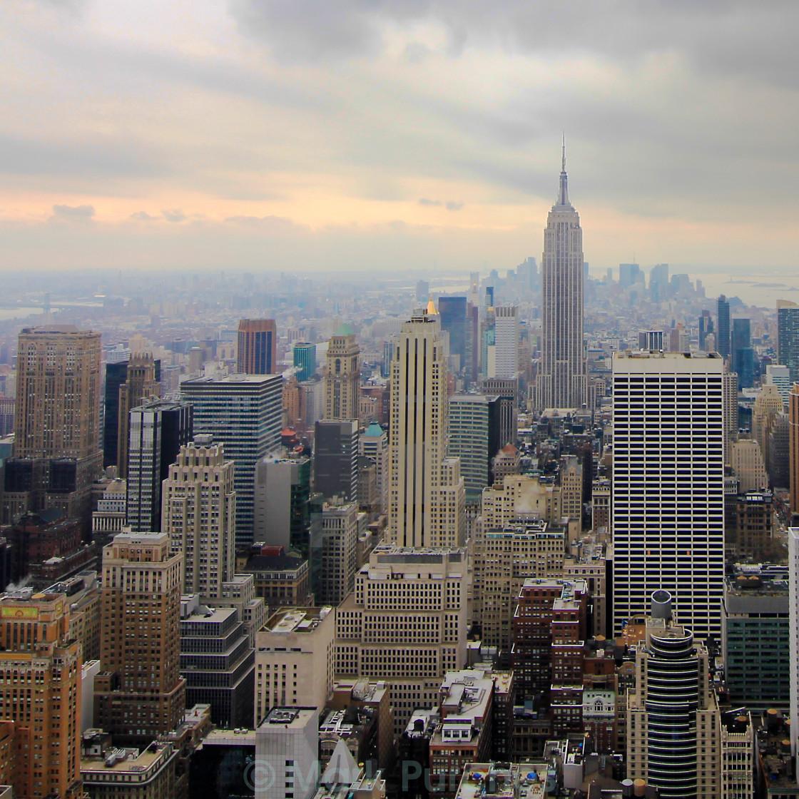"""Skyscrapers of Upper Manhattan"" stock image"