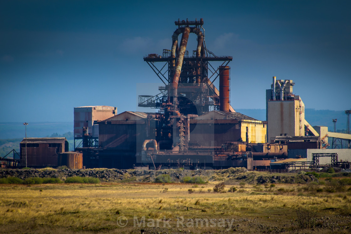 """Redcar steelworks"" stock image"